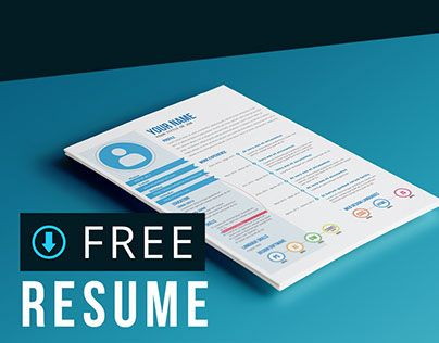 다음 @Behance 프로젝트 확인: \u201cFree resume template\u201d https://www.behance.net/gallery/28465321/Free-resume-template