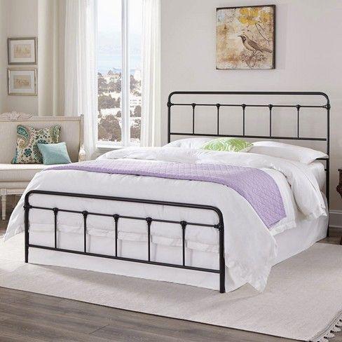 Eluxury Colton Steel Metal Bed Frame, Metal Bed Frame Queen Target