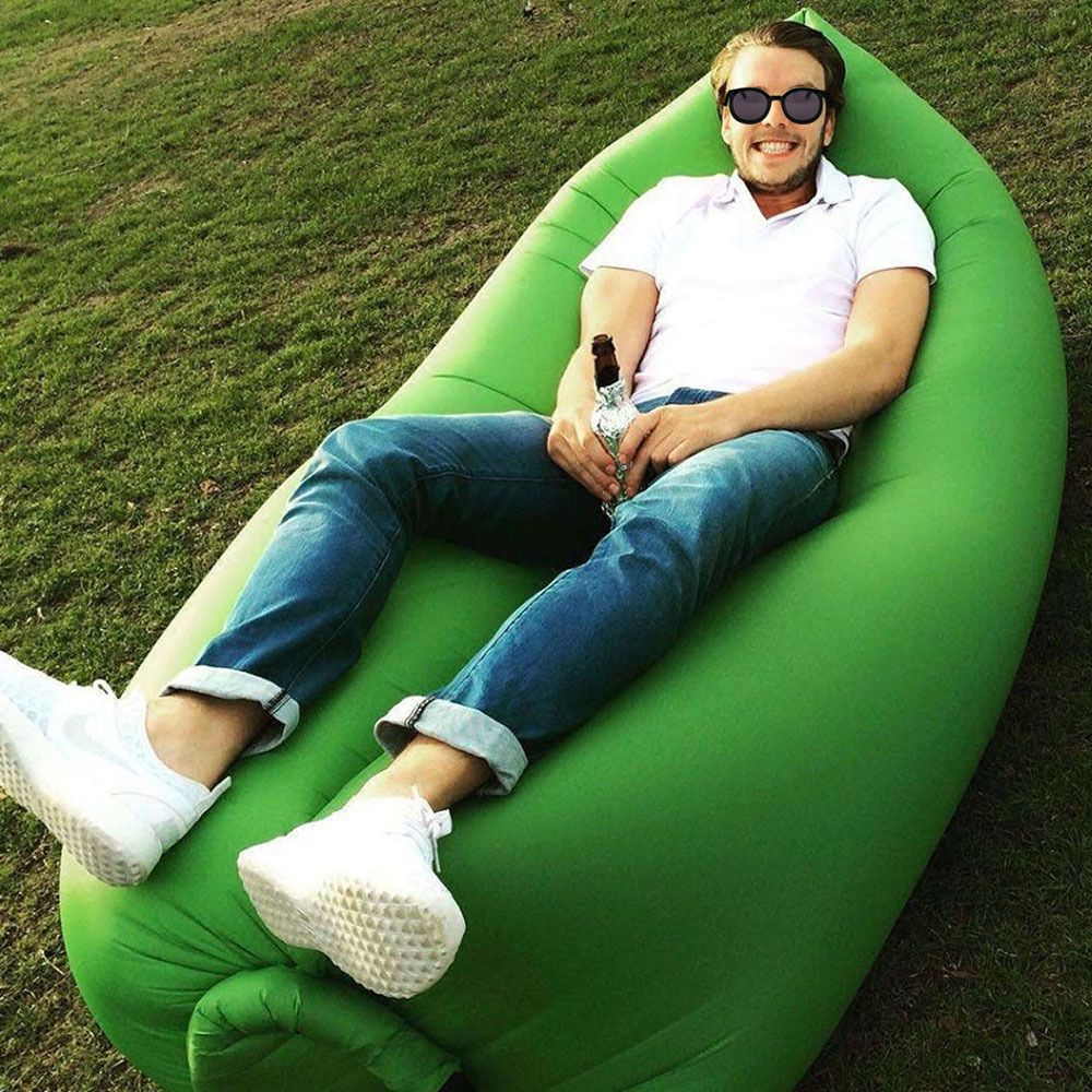 Laysack Light Weight Festival Bed Large Air Bag Like Lamzac Camping Sofa Chair Ebay Inflatable Sofa Inflatable Sofa Bed Beach Sofa