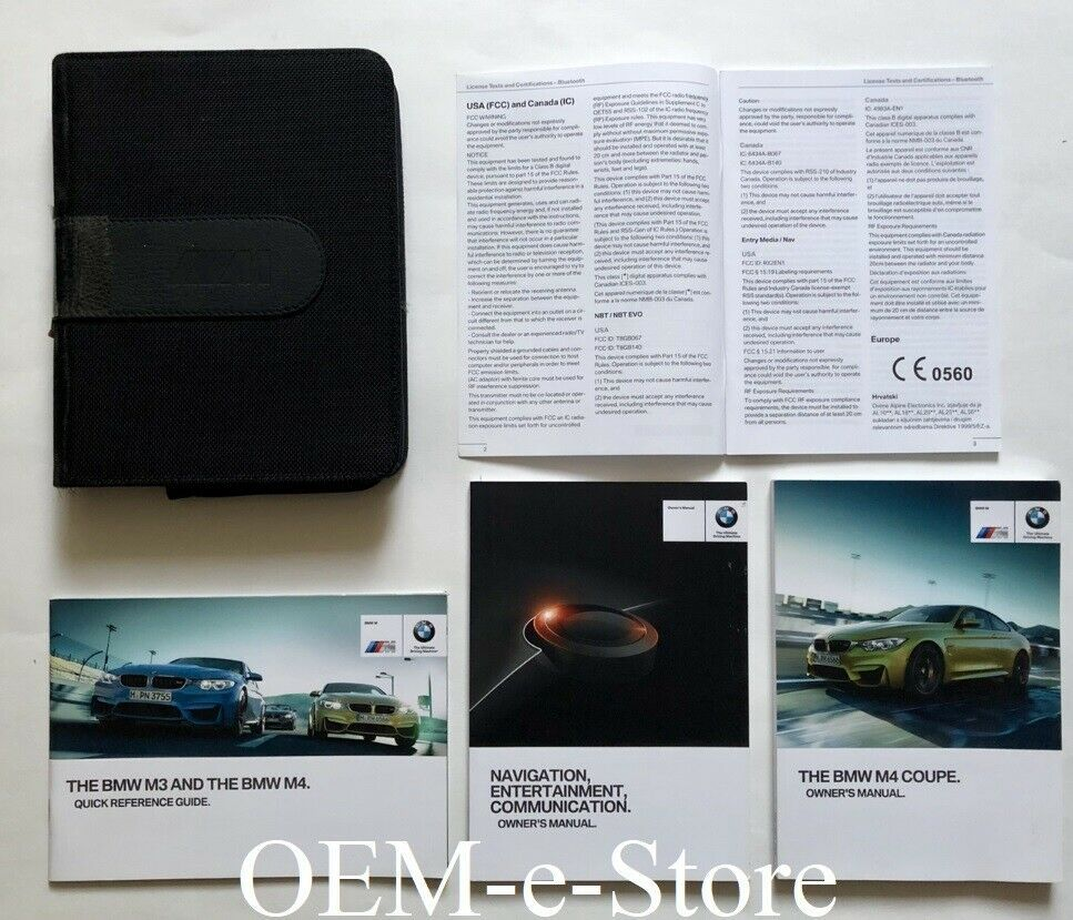 Ebay Sponsored 2015 Bmw M4 Coupe 2 Door F82 Owner S Manual Navigation System Book Set M4 Case Bmw M4 Bmw M4 Coupe 2015 Bmw M4