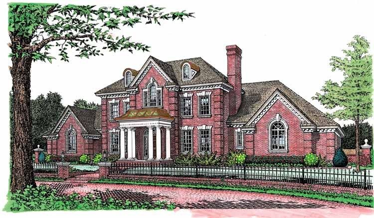 Superior Adam   Federal House Plan With 3793 Square Feet And 4 Bedrooms From Dream  Home Source | House Plan Code DHSW55010