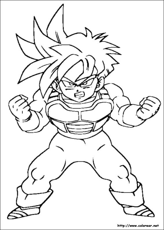 dibujos de dragon ball z para colorear | Proyectos que intentar ...