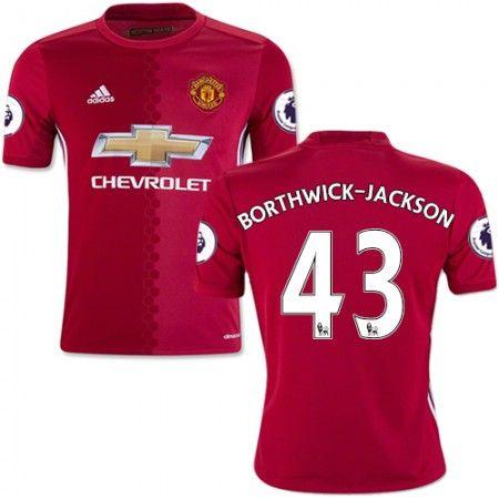 Manchester United 16-17 Cameron #Borthwick-Jackson 43 Hjemmebanetrøje Kort ærmer,208,58KR,shirtshopservice@gmail.com