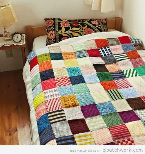 Mantas de patchwork hechas con ganchillo o crochet 2 | Punto y ...