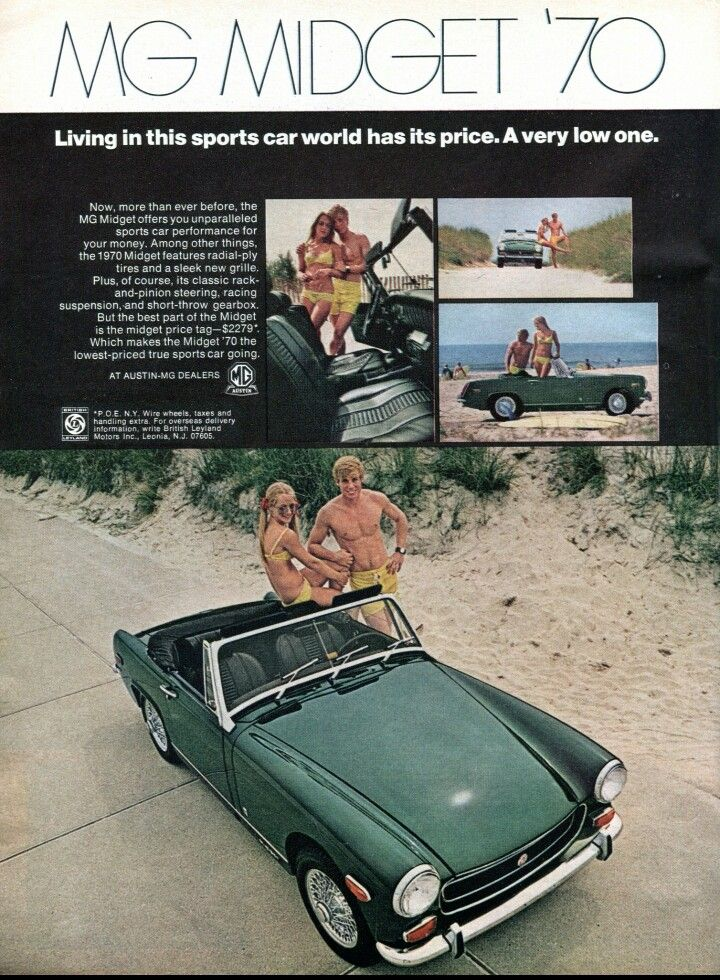 1970 MG Midget as advertised in Time Magazine