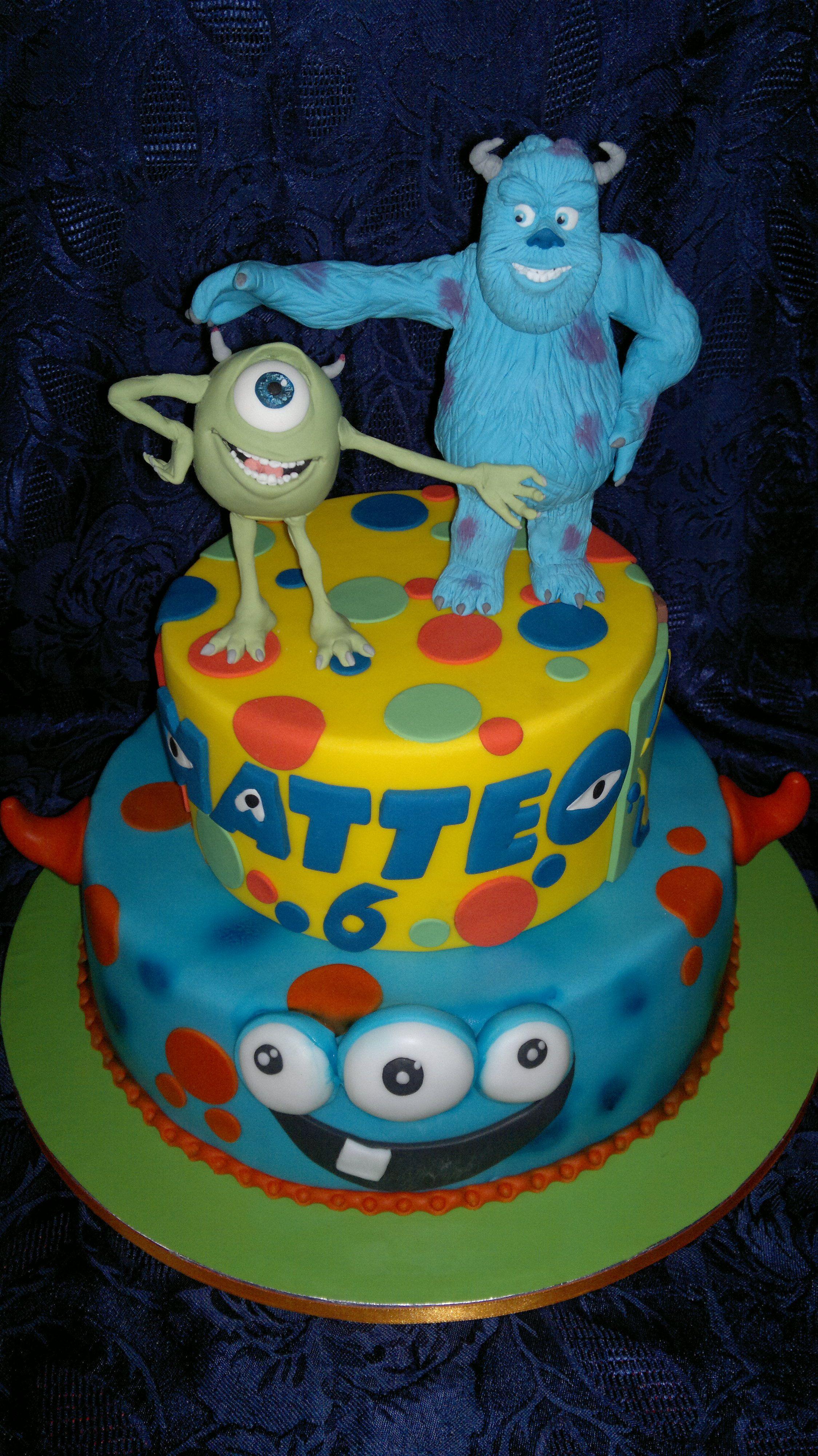 Cake monster sullivan e mike cake torte cartoni animati