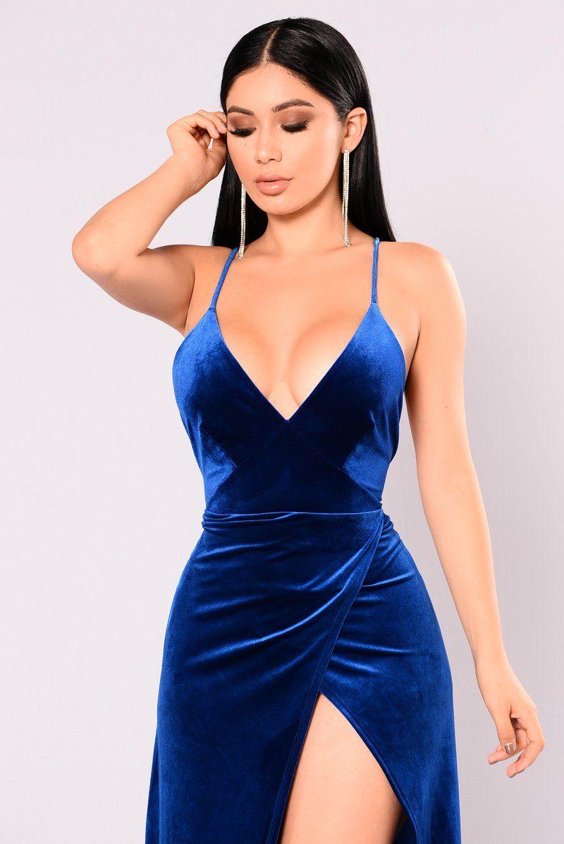 a94fdcc66c1 Angelique Velvet Maxi Dress - Royal