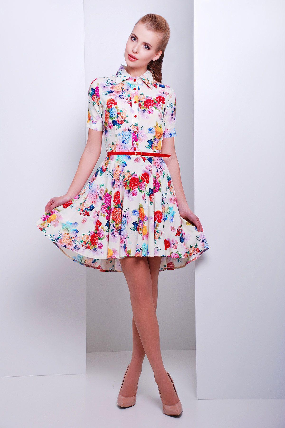 70ec7472057 Летнее белое платье с коротким рукавом