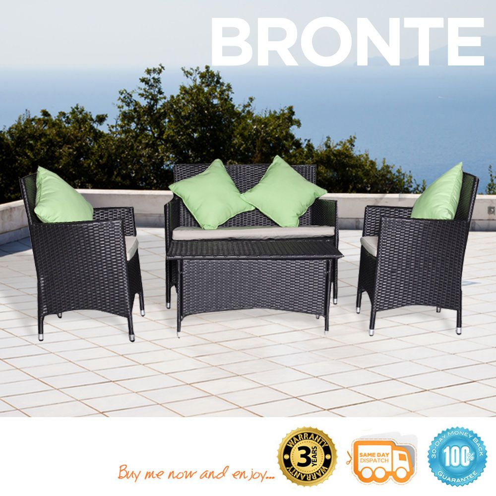 New pc outdoor furniture rattan sofa wicker bbq pool patio set w