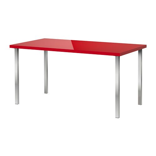 Us Furniture And Home Furnishings Ikea Table Red Desk