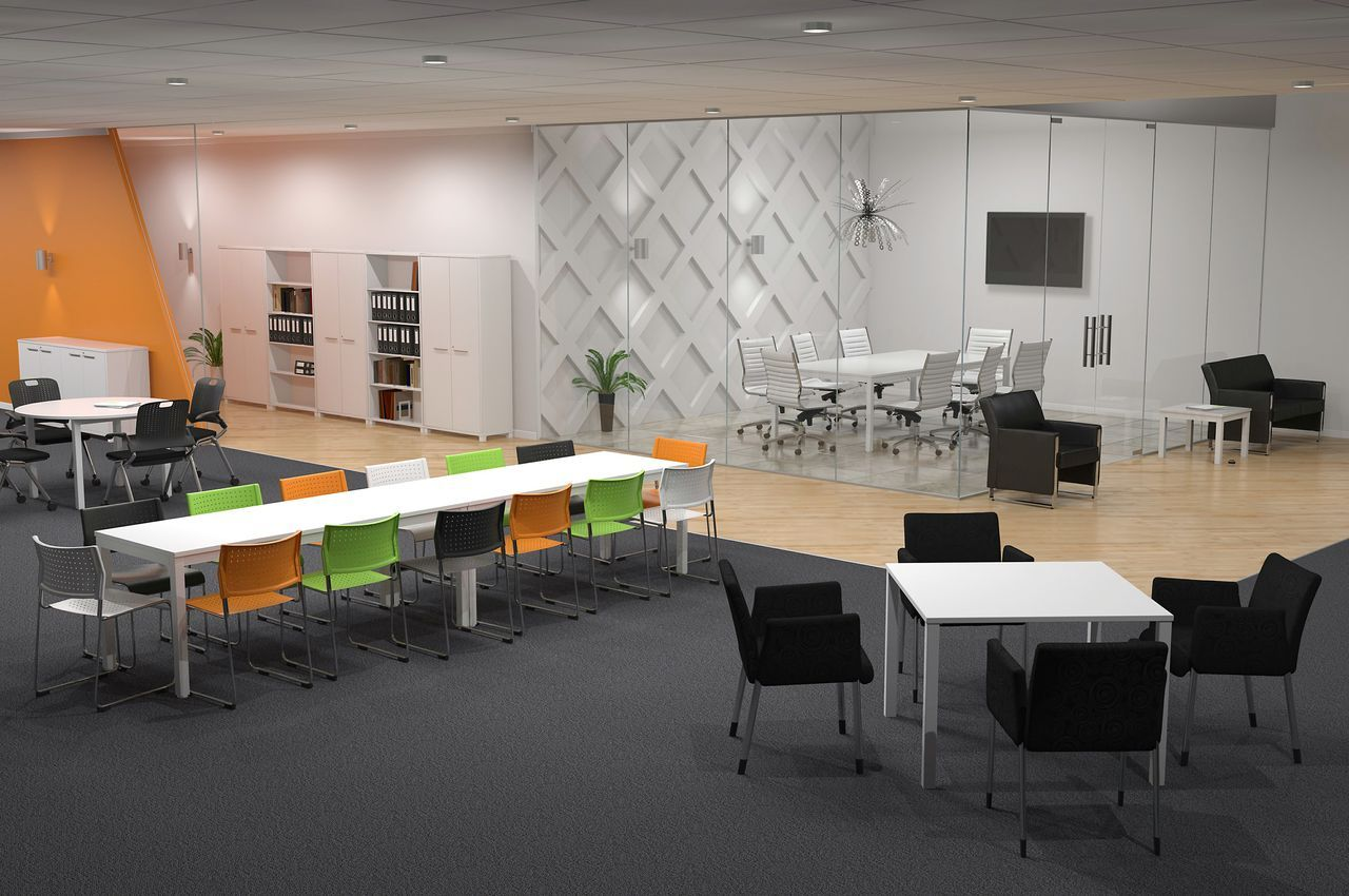 Open plan office layout design the for Open plan office design