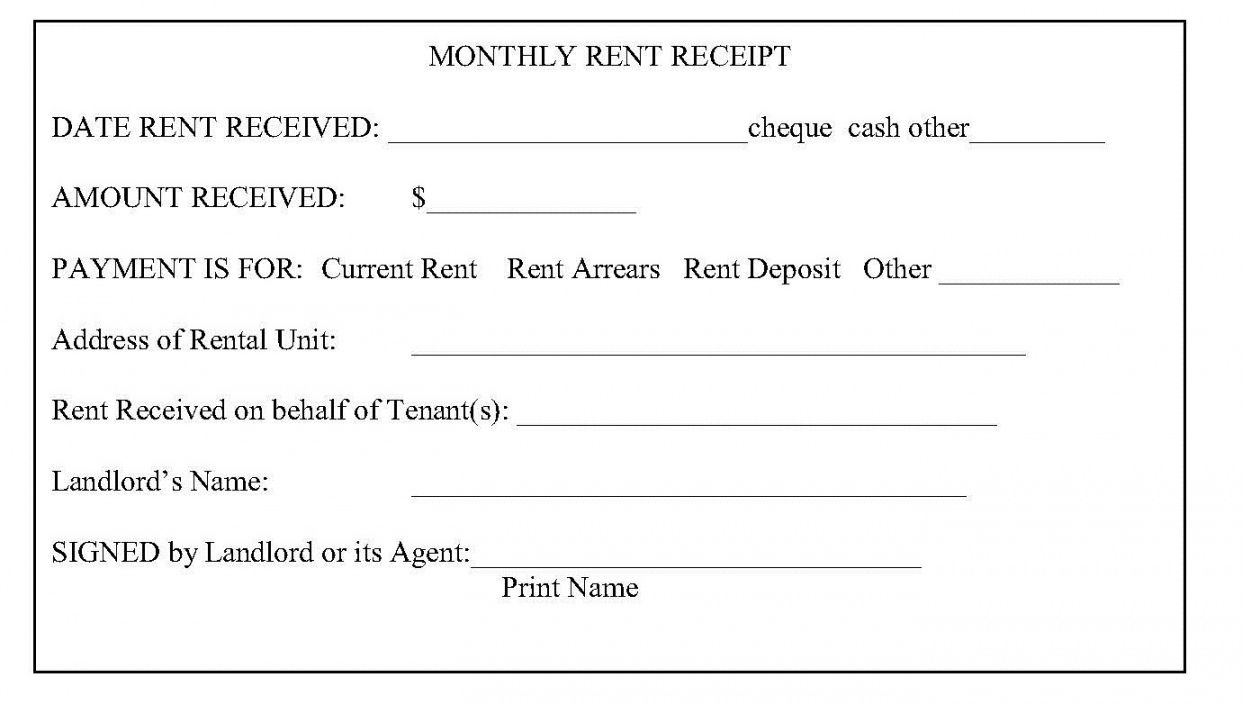 Get Our Image Of Tenant Rent Receipt Template Receipt Template Being A Landlord Receipt