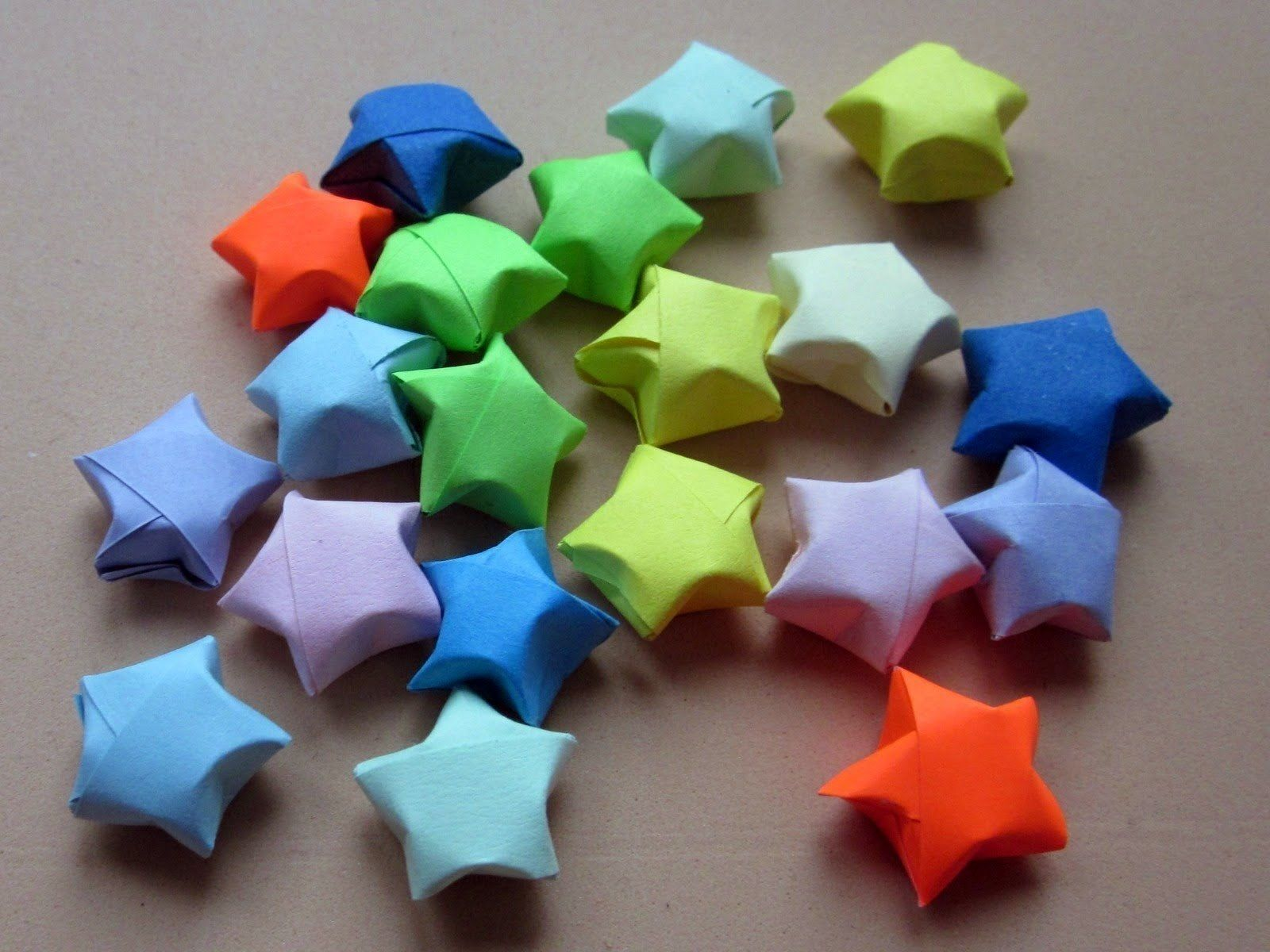 Lucky Paper Stars Pinterest Paper Stars Origami Shapes And