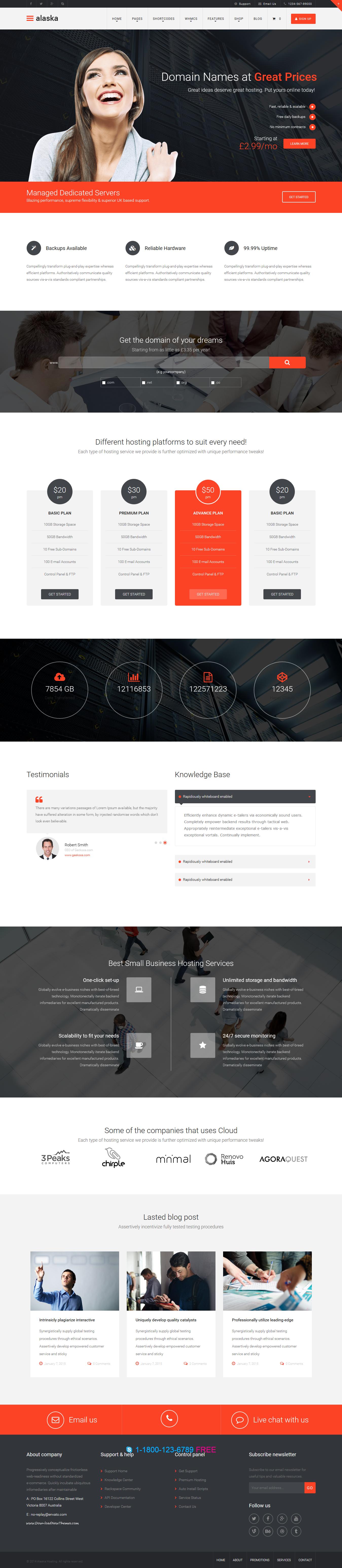 Alaska - Responsive HTML/CSS Hosting Template | Alaska, Website and ...