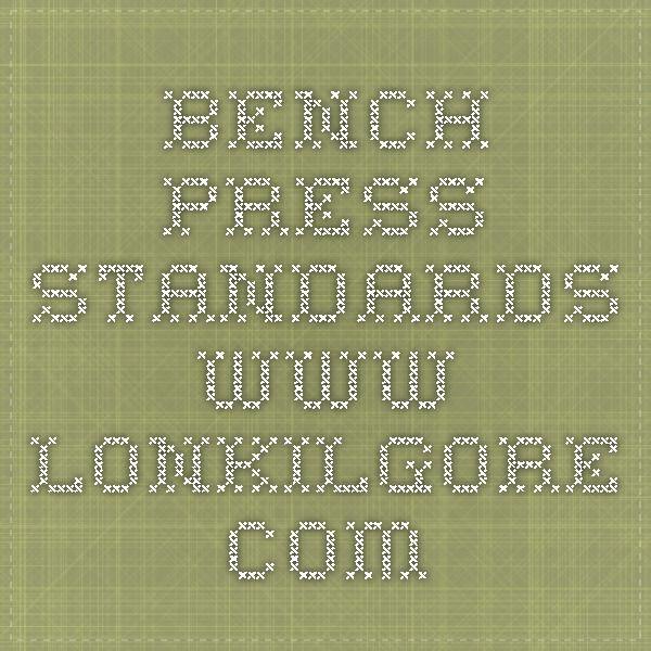 Bench Press Standards Www Lonkilgore Com Bench Press Health And Wellness Math