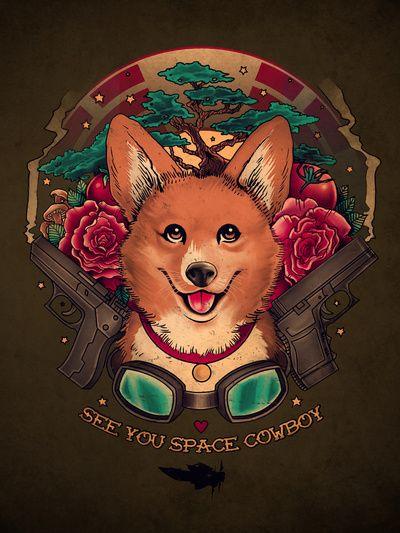See You Space Cowboy Art Print // Buy