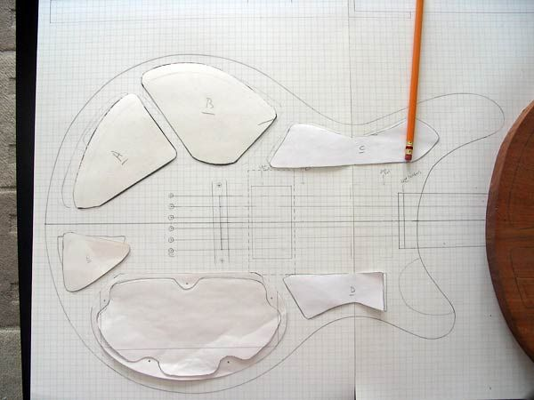 Cutting paper templates for cavities | Project Electric Guitar ...