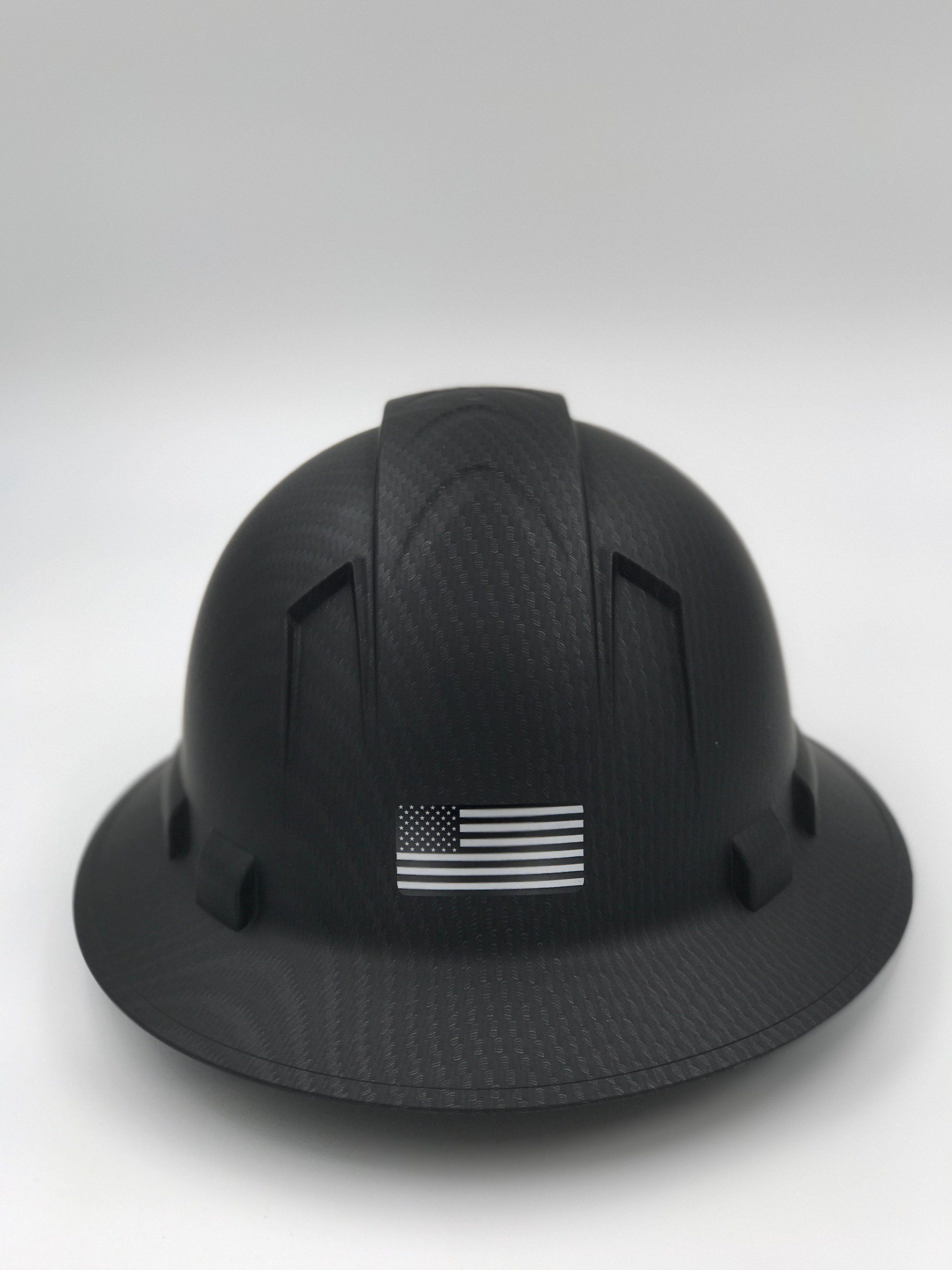 6b57c5a61f4 Custom Printed Black Ops Special Edition Pyramex Hard Hat w  US Flag (Back)