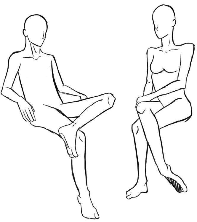 картинка сидящего человечка подобного