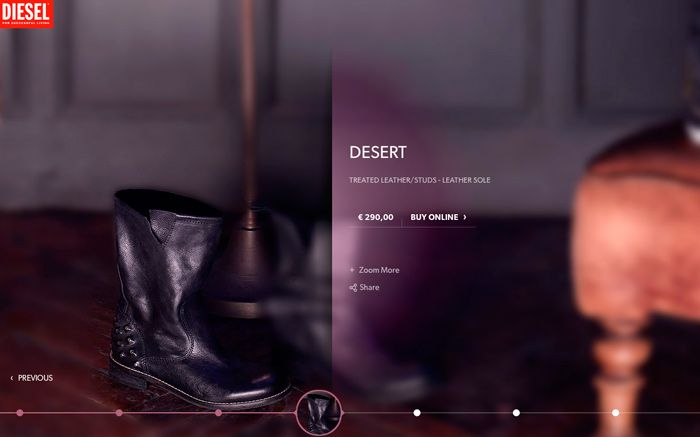 2cad6826a #design #web #ui #ux #photos #blur #usability   Diesel Shoes, Bags &  Accessories