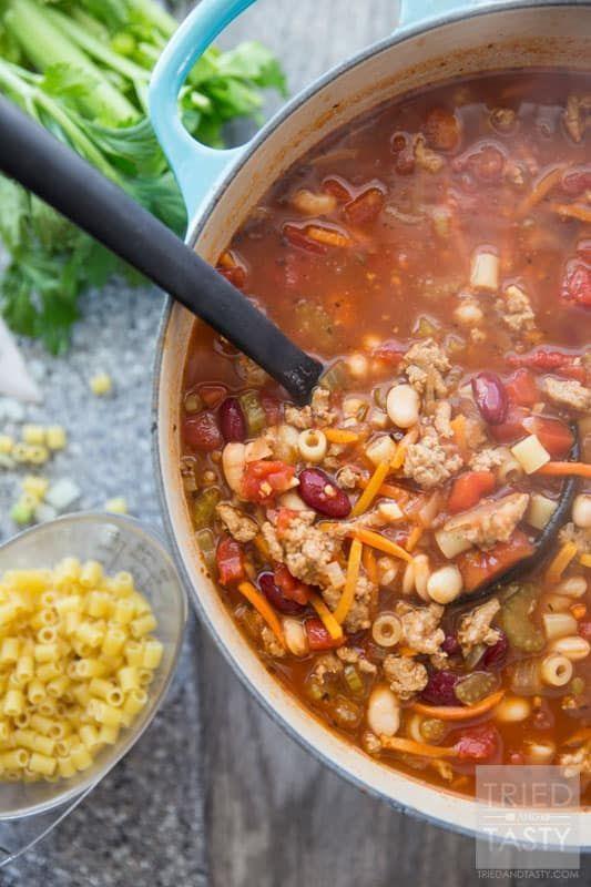 Copycat Olive Garden Pasta e Fagioli | Recipe | Pasta e ...