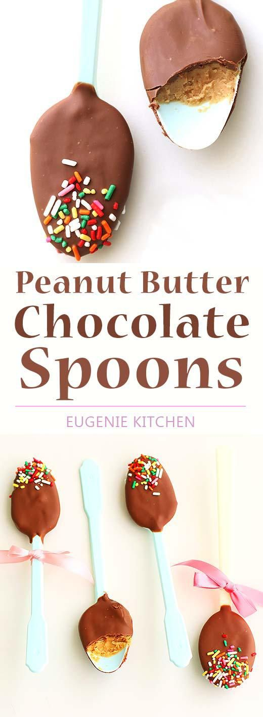 Peanut Butter Chocolate Spoons Recipe
