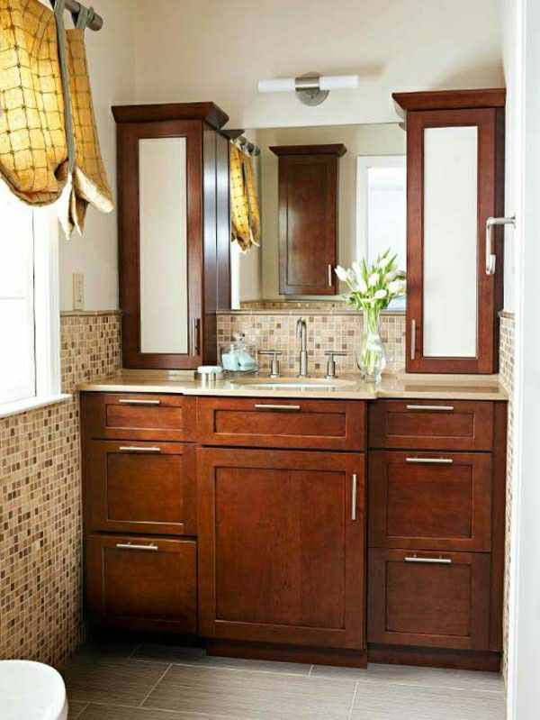 . Bathroom cabinet design symmetrical washbasin Cabinet tiles   Furniture