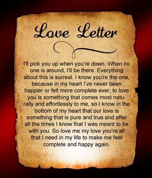 Love letters straight from your heart to boyfriend