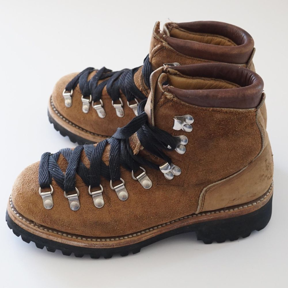 7b0b2e80693 Details about VTG Womens Hiking Mountaineering Leather Boots w ...