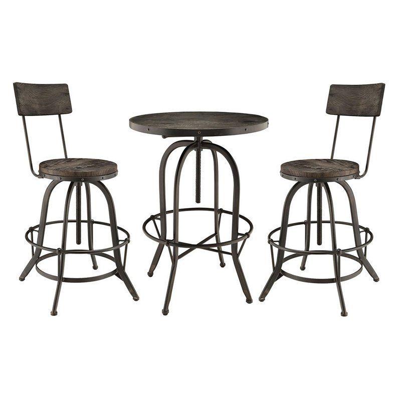 Excellent Modway Gather 3 Piece Pub Table Set Products 3 Piece Machost Co Dining Chair Design Ideas Machostcouk