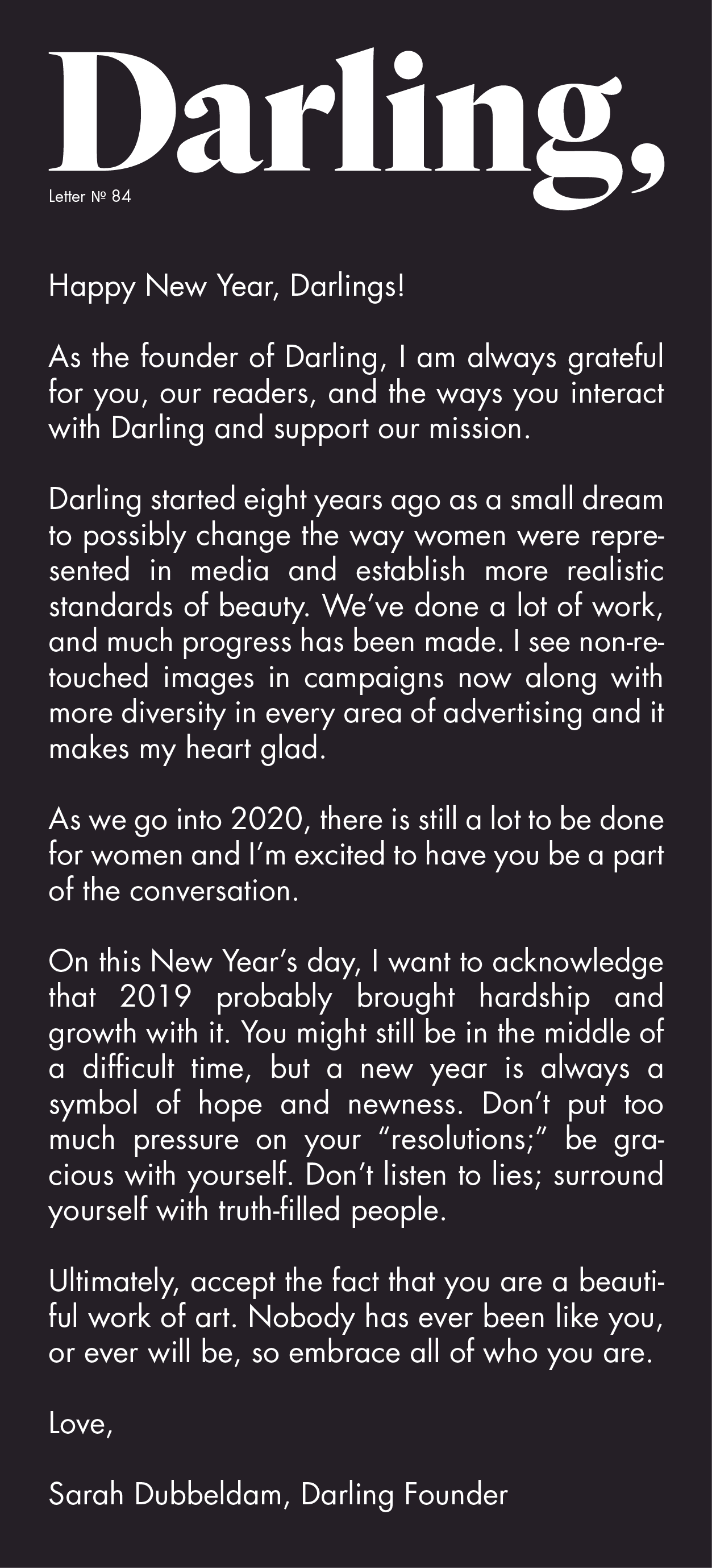 Darling Letter 84 Darling This New Year Is Going To Be A Good One Lettering Darling Letter N