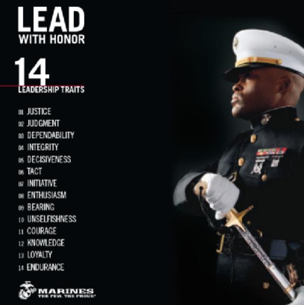 14 Leadership Traits - Lead with Honor | Marine corps ...