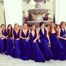 Damas Azul Rey En 2019 Vestidos De Dama De Honor Azul