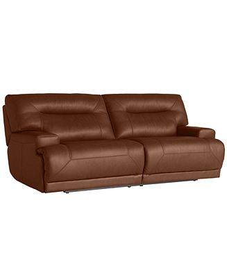 Ricardo Leather Reclining Sofa Power Recliner 88w X 44d X 38h Couches Sofas Furniture Macy S Leather Reclining Sofa Reclining Sofa Recliner