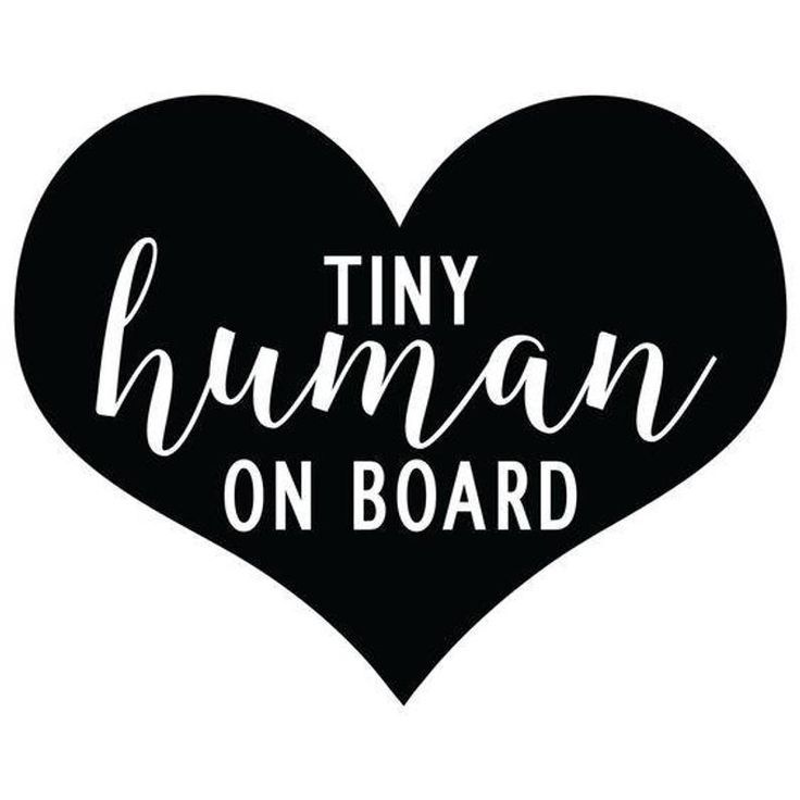 Tiny Human On Board Decal - Window Decal, Car, Vinyl, Sticker, Baby