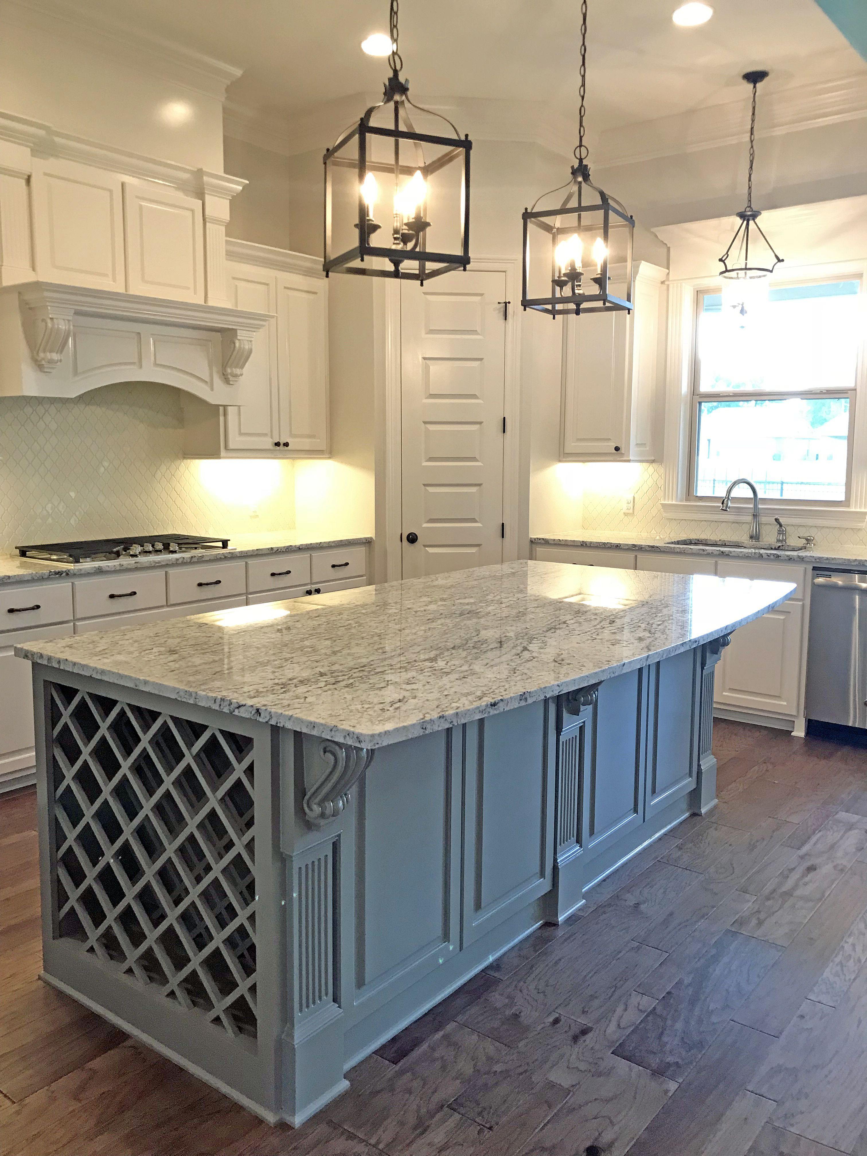 Kitchen Ideas Alabaster Cabinets Felted Wool Island Lantern