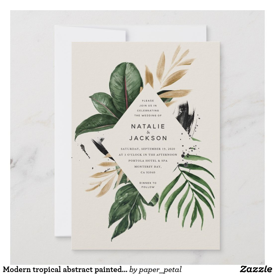 Modern Wedding Ceremony Songs: Modern Tropical Abstract Painted Wedding