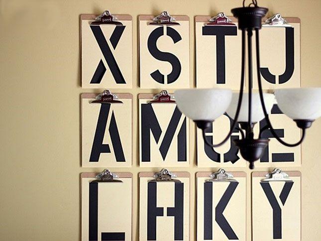 Letter Decoration Diy
