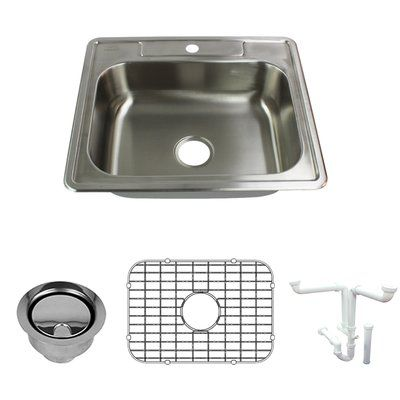 Transolid Select 25 L X 22 W Drop In Kitchen Sink With Sink Grid