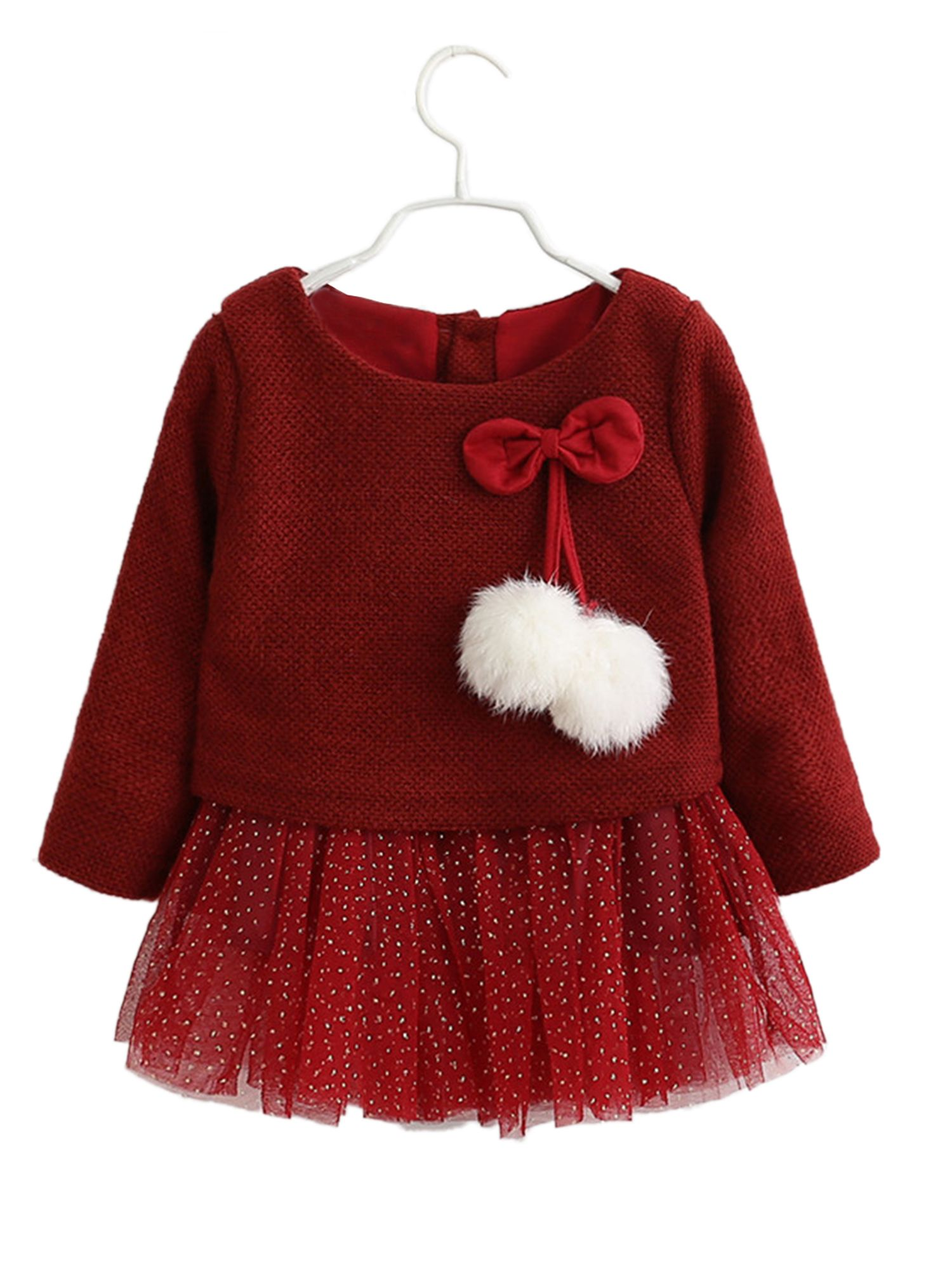 StylesILove - StylesILove Infant Baby Girl Knit Sweater with Gold