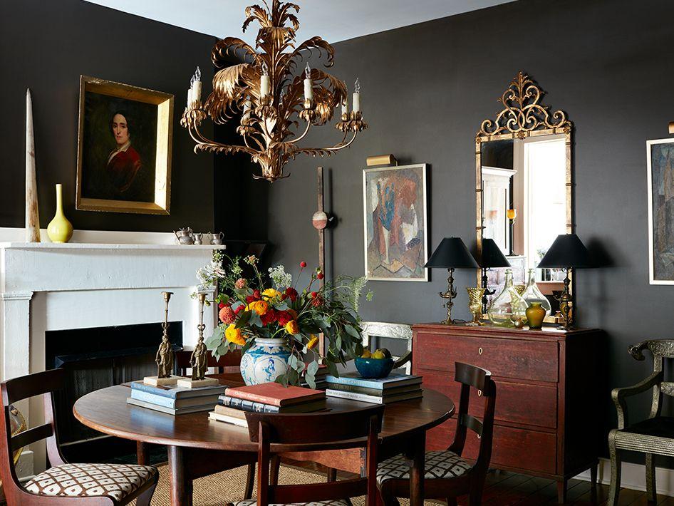 10 Dark Paint Colors Top Interior Designers Swear By Dining Room Decor Decor Elle Decor Best dining rooms elle decor