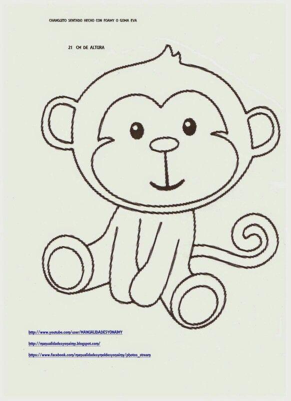 Changuito 2 Con Imagenes Monos De Goma Eva Manualidades
