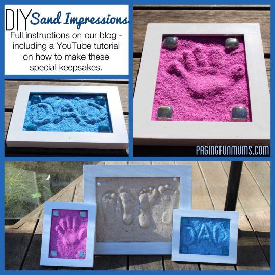 DIY Sand Imprints -