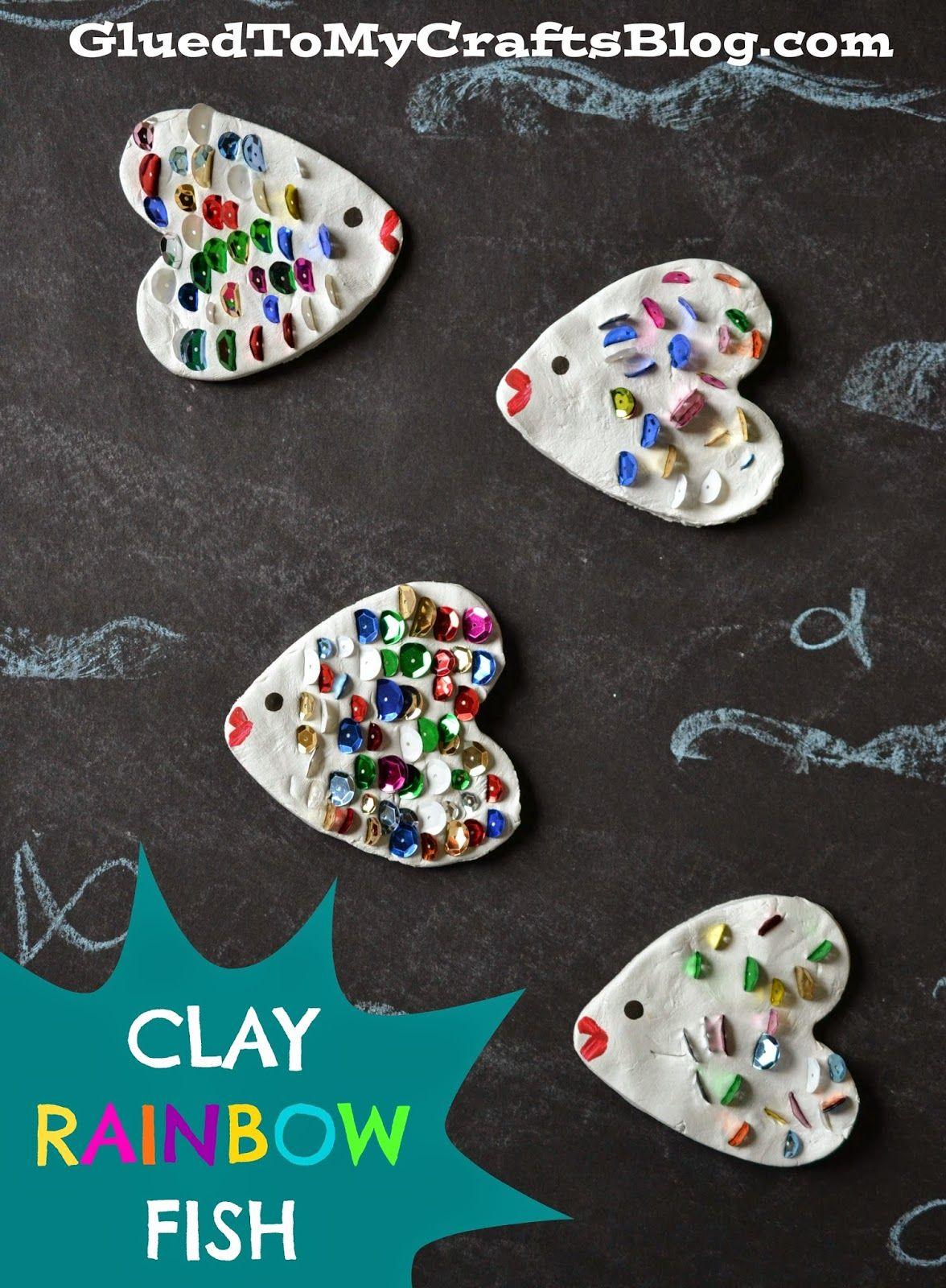 Clay Rainbow Fish Kid Craft