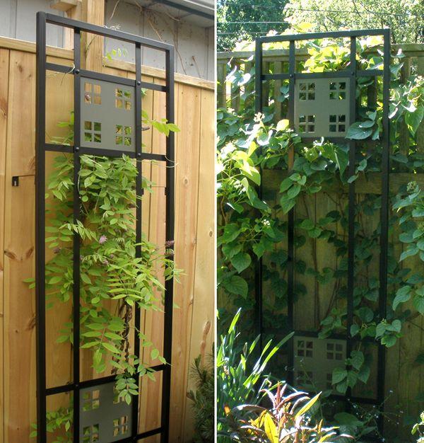 Craftsman style garden trellis i say door for Craftsman style trellis
