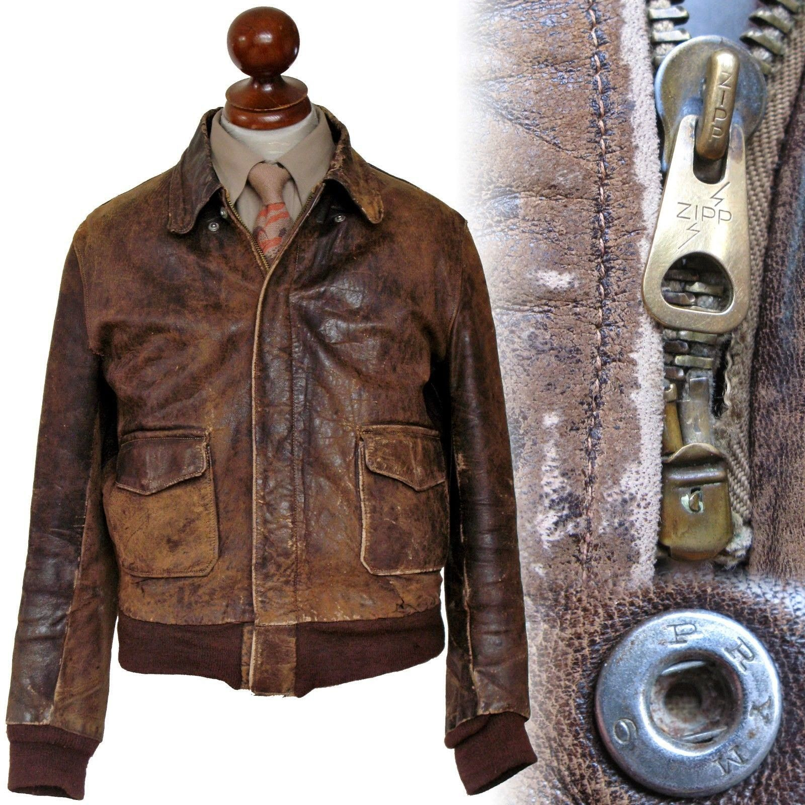 German Theatre-made A-2 Flight jacket | Men's leather jacket ...