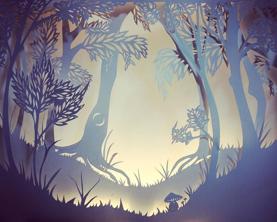 Paper-cut background