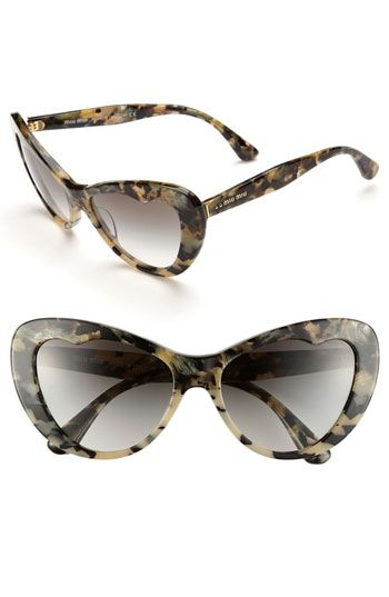Miu Miu 57mm Cat's Eye Sunglasses | Nordstrom