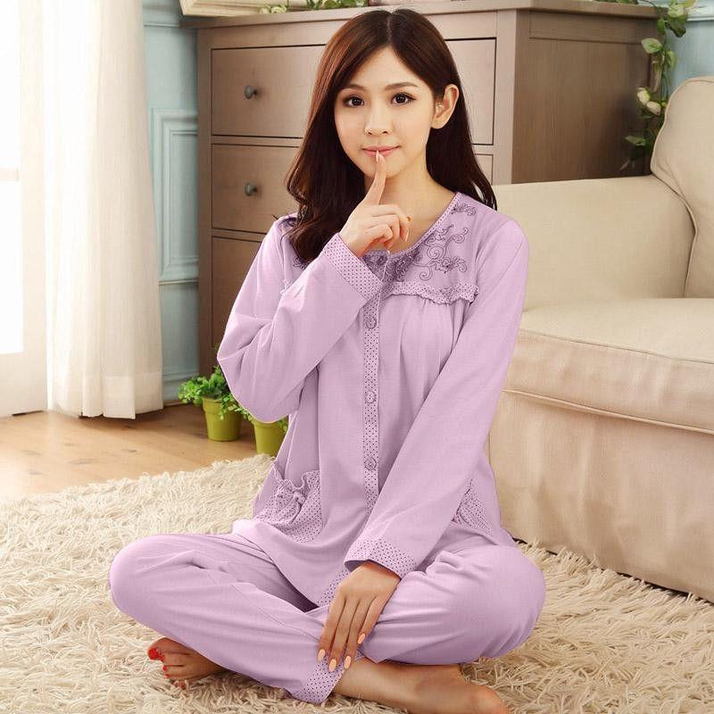 c6041c59dc Gadpat Women Autumn Winter Pajamas Soft Comfortable Printing Home Suit Women  Cotton Pyjama Sleepwear Plus Size Pajamas Woman