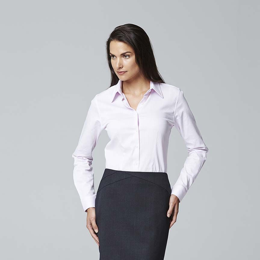 f22d440314a SALAMANCA SELF STRIPE WOMEN S BUSINESS SHIRT. Available in 4 colours -  White
